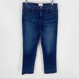 PARKER SMITH Dark Wash Jeans Size 31 Released Hem